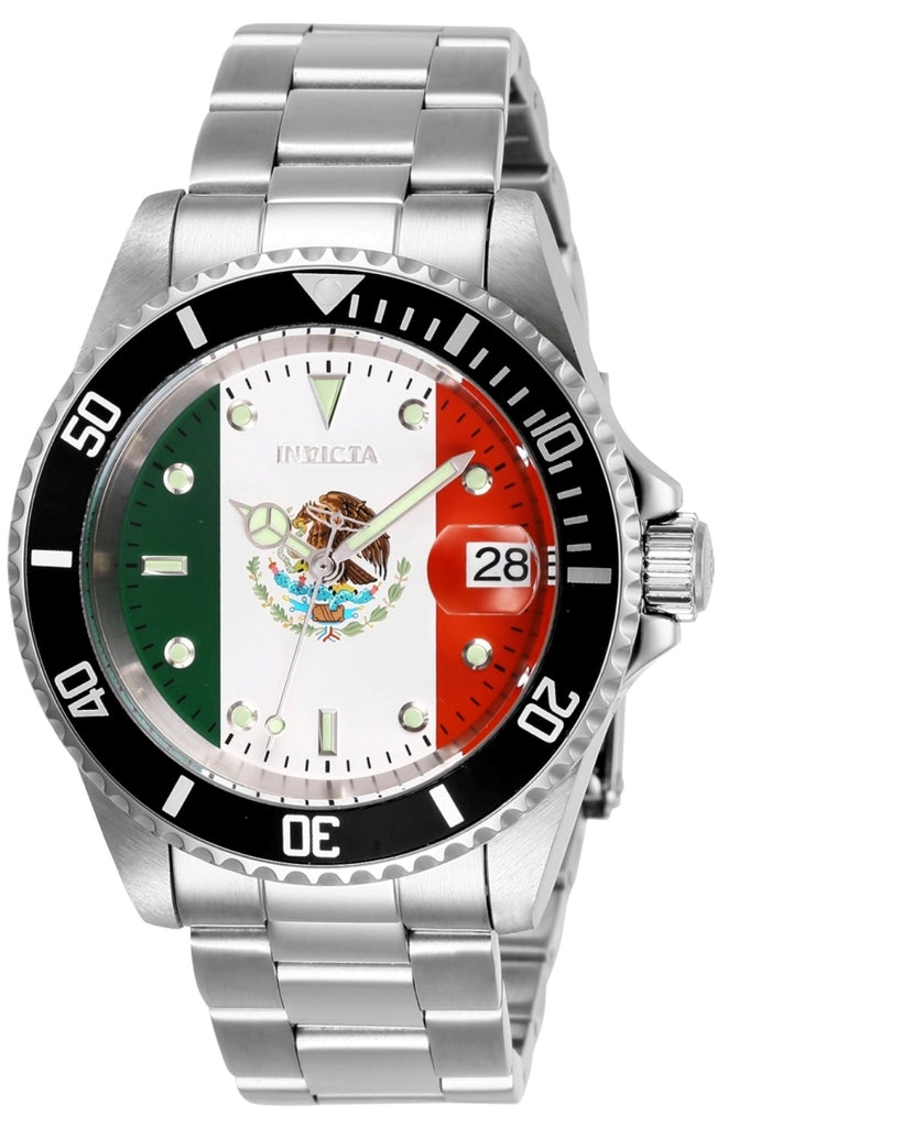 Invicta Men's 28702 Pro Diver Automatic 3 Hand Red, White, Green Dial Watch