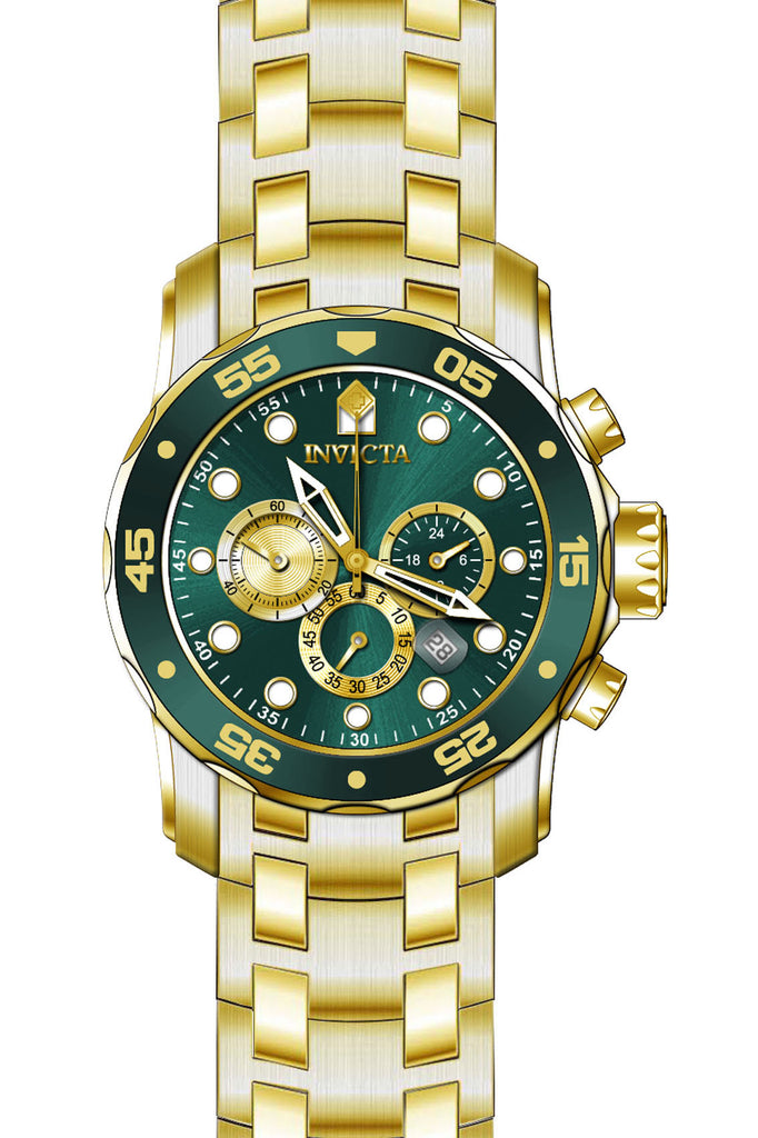 Invicta Men's 28719 Pro Diver Quartz Chronograph Green Dial Watch