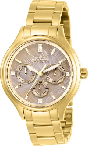Invicta Women's 28736 Angel Quartz 3 Hand Brown Dial Watch