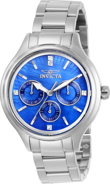 Invicta Women's 28740 Angel Quartz 3 Hand Blue Dial Watch