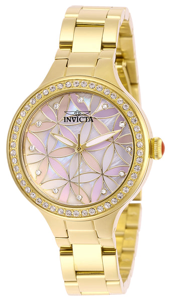 Invicta Women's 28822 Wildflower Quartz 3 Hand White Dial Watch