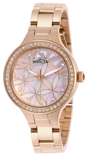 Invicta Women's 28824 Wildflower Quartz 3 Hand White Dial Watch