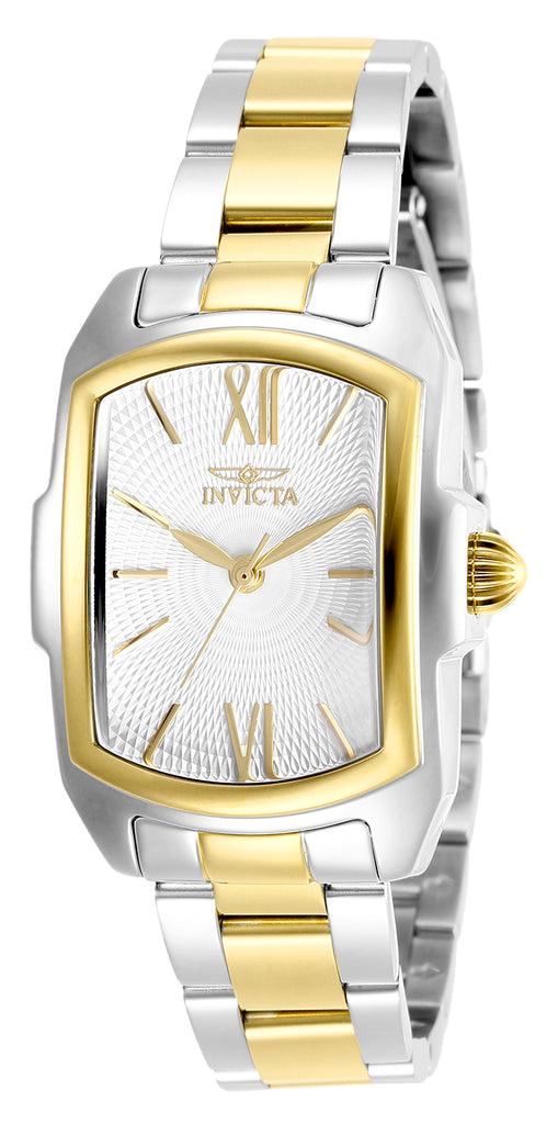 Invicta Women's 28973 Lupah Quartz 3 Hand Silver Dial Watch