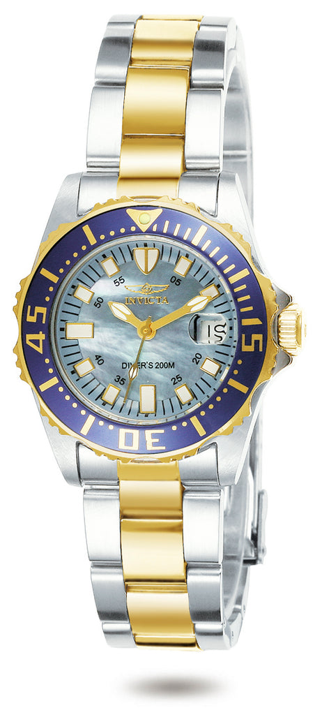 Invicta Women's 2961 Pro Diver Quartz 3 Hand Blue Dial Watch