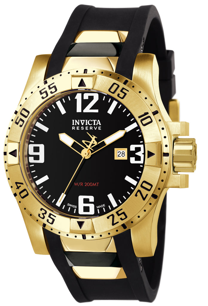 Invicta Men's 6255 Excursion Quartz 3 Hand Black Dial Watch