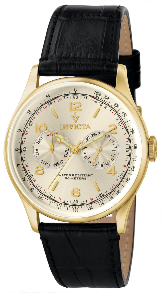 Invicta Men's 6750 Vintage Quartz Multifunction Champagne Dial Watch