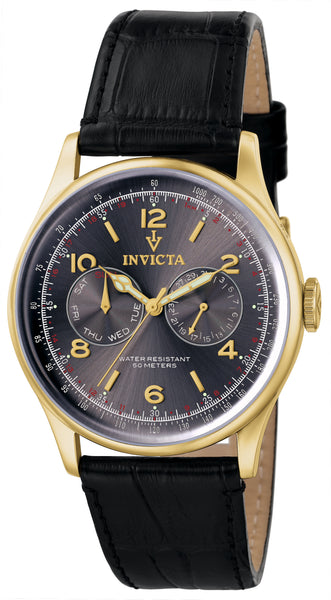 Invicta Men's 6751 Vintage Quartz Multifunction Charcoal Dial Watch