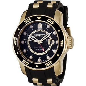 Invicta Men's 6991 Pro Diver Quartz GMT Black Dial Watch