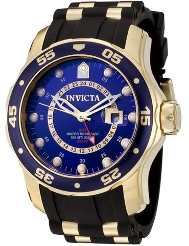 Invicta Men's 6993 Pro Diver Quartz GMT Blue Dial Watch