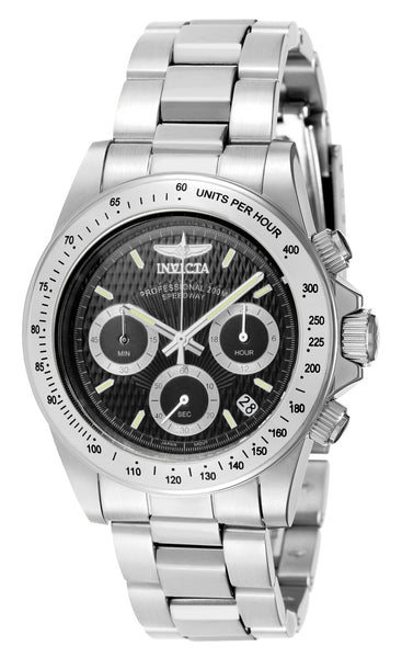 Invicta Men's 7026 Signature Quartz Chronograph Black Dial Watch