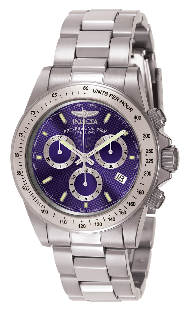 Invicta Men's 7027 Signature Quartz Chronograph Blue Dial Watch