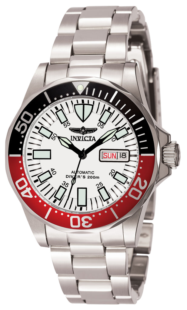 Invicta Men's 7044 Signature Automatic 3 Hand White Dial Watch