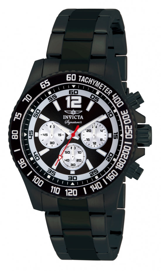 Invicta Men's 7413 Signature Quartz Chronograph Black Dial Watch