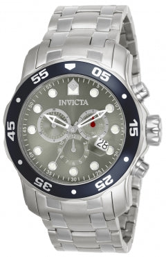 Invicta Men's 80059 Pro Diver Quartz 3 Hand Grey Dial Watch