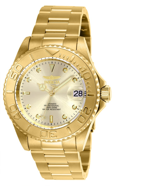 Invicta Men's 9010OB Pro Diver Automatic 3 Hand Champagne Dial Watch