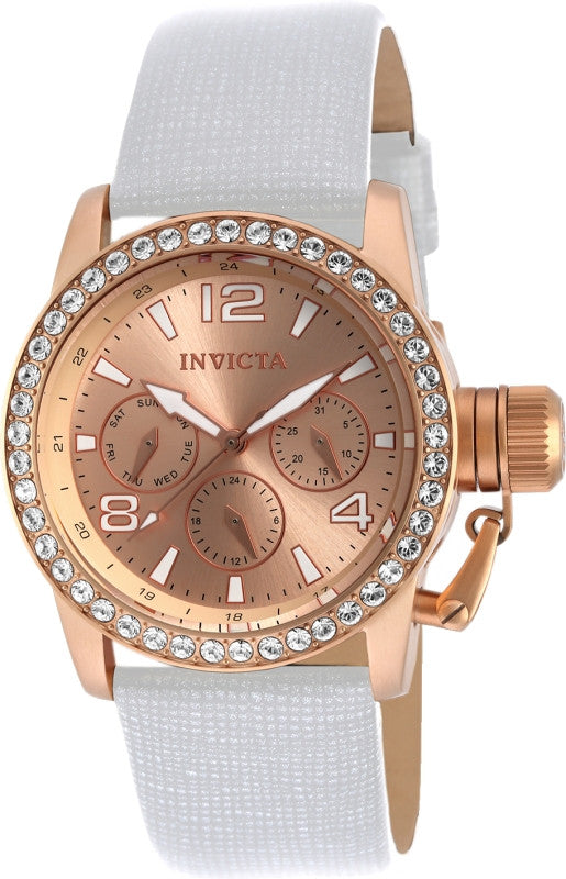 Invicta Women's 90224 Corduba Quartz Chronograph Rose Gold Dial Watch