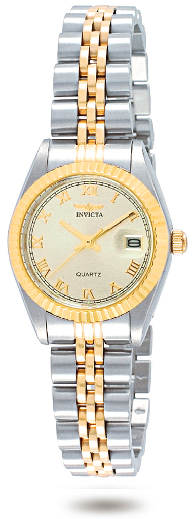 Invicta Women's 9339 Specialty Quartz 3 Hand Champagne Dial Watch