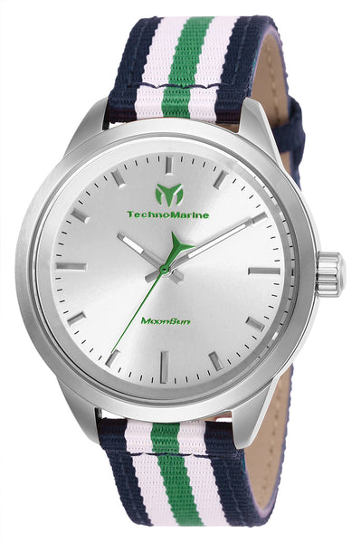 TechnoMarine Women's TM-117005 MoonSun Quartz Silver Dial Watch