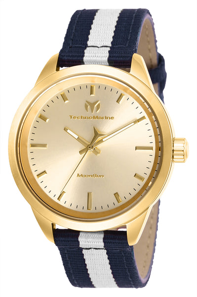 TechnoMarine Women's TM-117006 MoonSun Quartz Gold Dial Watch
