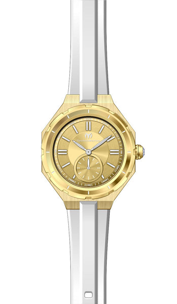 Technomarine Women's TM-118005 Quartz 3 Hand Gold Dial Watch