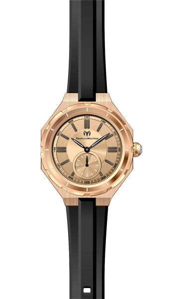 Technomarine Women's TM-118007 Quartz 3 Hand Rose Gold Dial Watch