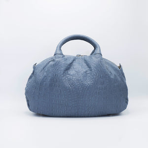 V. Shivers Crocodile Embossed Leather Tote