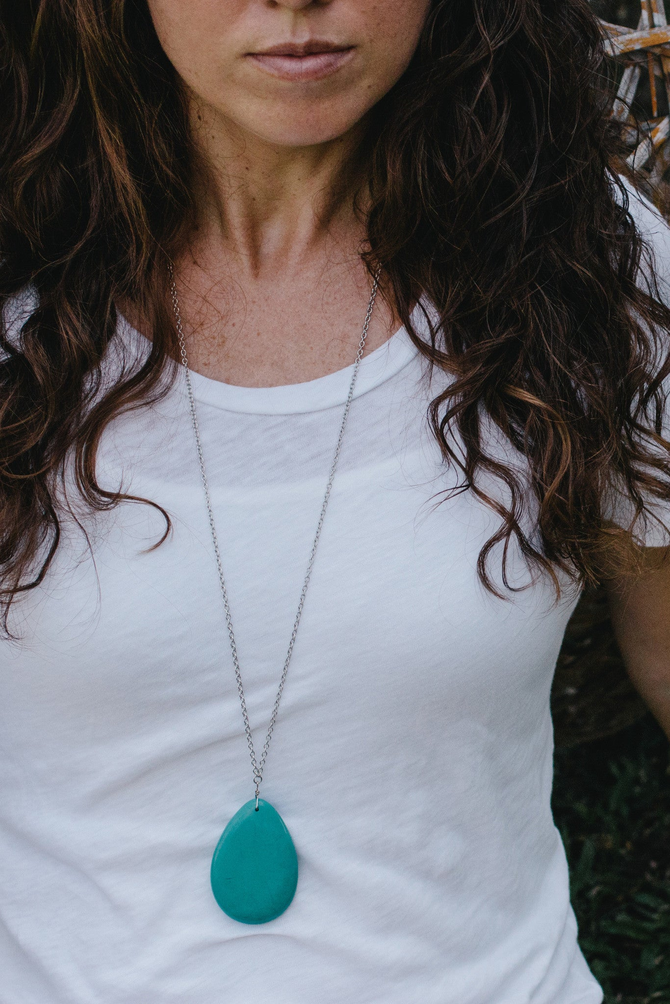 S647 - Turquoise Stone Necklace