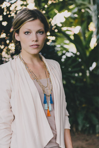 E420 - Tassel Statement Necklace