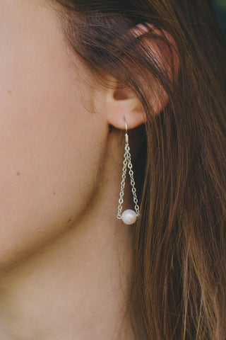 P305 - Pearl Dropped Earrings
