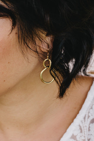 S609 - Double Hoop Gold Earrings