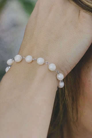 P301 - Linked Pearl Bracelet