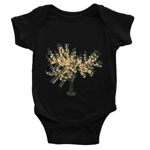 Shadow Tree in Green Baby Bodysuit