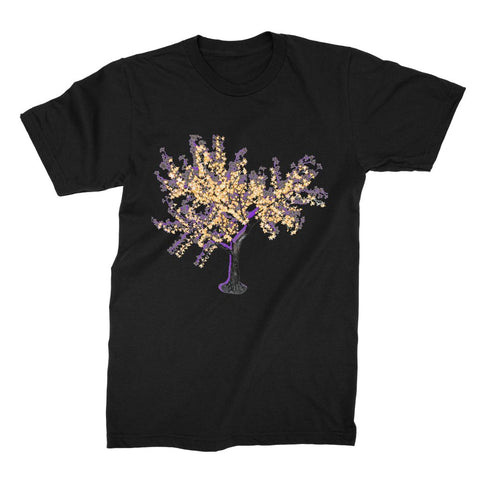 Shadow Tree in Purple Unisex Fine Jersey T-Shirt