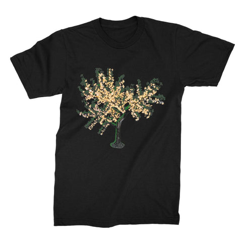 Shadow Tree in Green Unisex Fine Jersey T-Shirt
