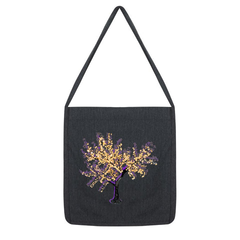 Shadow Tree in Purple Tote Bag