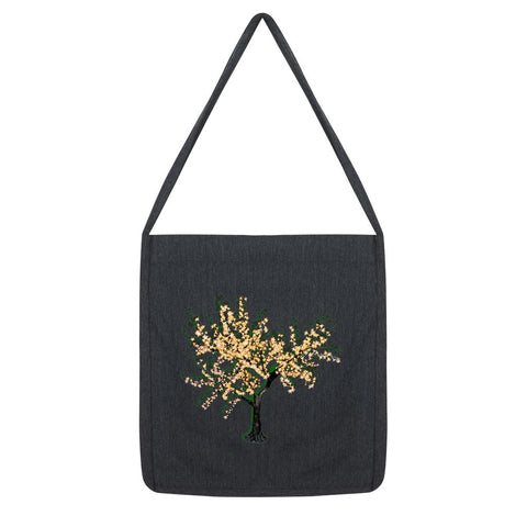 Shadow Tree in Green Tote Bag