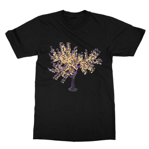 Shadow Tree in Purple Softstyle Ringspun T-Shirt