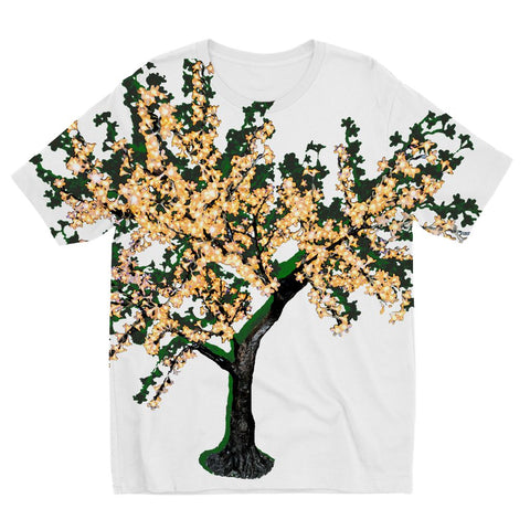 Shadow Tree in Green Kids' Sublimation T-Shirt