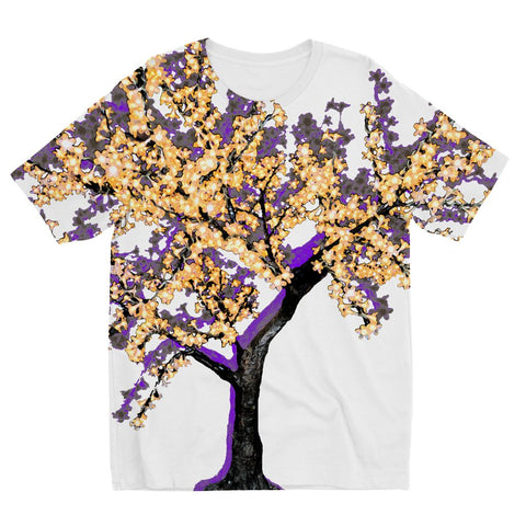 Shadow Tree in Purple Kids' Sublimation T-Shirt