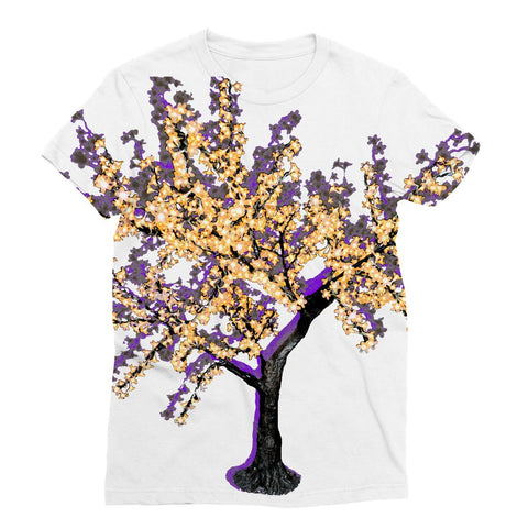 Shadow Tree in Purple Sublimation T-Shirt