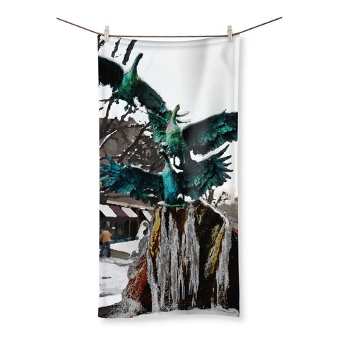 Frozen Fountain Beach Towel