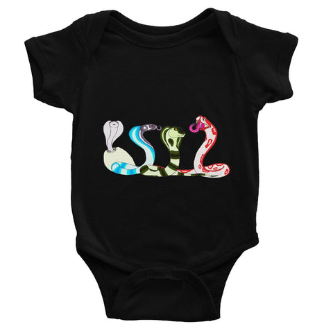 Colorful Cobras Baby Bodysuit