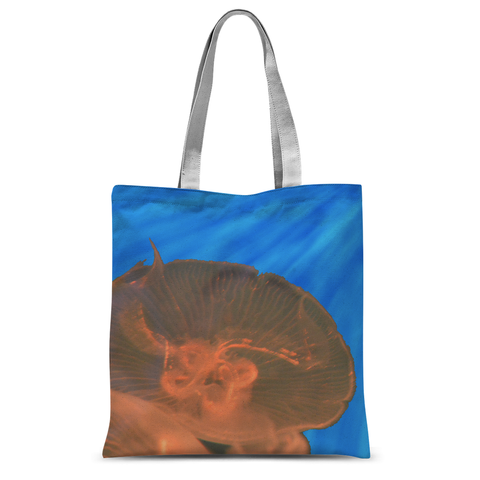 Jellyfish in Peach Tote Bag