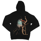 Blue-Breasted Kingfisher Fine Jersey Zip Hoodie