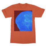 Jellyfish in Blue Softstyle Ringspun T-Shirt