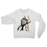 Blue-Breasted Kingfisher Heavy Blend Crew Neck Sweatshirt