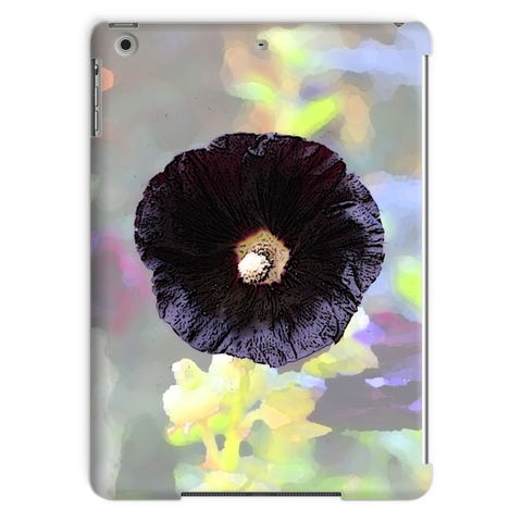 Black Hollyhock Tablet Case