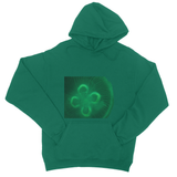 Jellyfish in green College Hoodie