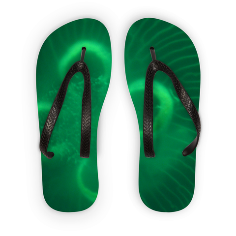 Jellyfish in green Flip Flops