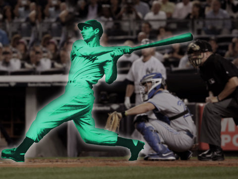 hologram holograph ghost pro ball player batter homerun